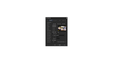 EDIUS Pro 9 / Workgroup 9 - Clip Properties - HDR Video Info