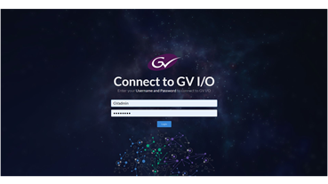 GV I/O UI Login Screen